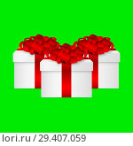 Купить «Gift in a box with a red bow», иллюстрация № 29407059 (c) Мастепанов Павел / Фотобанк Лори