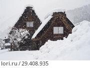 Купить «Shirakawa-go, Japan, Traditional Gassho-zukuri Farmhouses», фото № 29408935, снято 28 декабря 2017 г. (c) Caro Photoagency / Фотобанк Лори