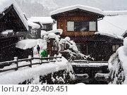 Купить «Shirakawa-go, Japan, Modern Residences», фото № 29409451, снято 28 декабря 2017 г. (c) Caro Photoagency / Фотобанк Лори