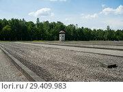 Купить «Dachau, Germany, Former shanty town in the Dachau concentration camp memorial site », фото № 29409983, снято 3 июня 2017 г. (c) Caro Photoagency / Фотобанк Лори