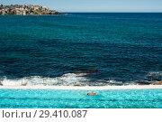 Купить «Sydney, Australia, Swimmer at Bondi Icebergs Swimming Club », фото № 29410087, снято 21 сентября 2018 г. (c) Caro Photoagency / Фотобанк Лори