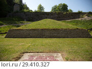 "Купить «""Bavaria, Germany - concentration camp memorial Flossenbuerg, """"Valley of Death"""" with the pyramid of ashes""», фото № 29410327, снято 5 мая 2018 г. (c) Caro Photoagency / Фотобанк Лори"
