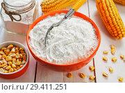 Купить «Starch and corn cob», фото № 29411251, снято 18 марта 2018 г. (c) Надежда Мишкова / Фотобанк Лори