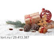 Купить «New Year and Christmas background», фото № 29413387, снято 5 ноября 2018 г. (c) Мельников Дмитрий / Фотобанк Лори