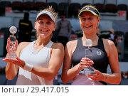 Купить «Mutua Madrid Open - Day 8 - Women's Final Featuring: Ekaterina Makarova, Elena Vesnina Where: Madrid, Spain When: 12 May 2018 Credit: Oscar Gonzalez/WENN.com», фото № 29417015, снято 12 мая 2018 г. (c) age Fotostock / Фотобанк Лори