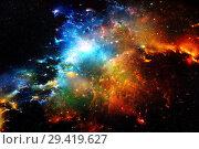 Купить «Галактики и звезды в ночном небе», фото № 29419627, снято 11 июня 2016 г. (c) Евгений Ткачёв / Фотобанк Лори