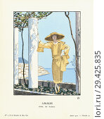 Купить «Amalfi. Amalfi, Campania, Italy. Robe de Worth. Dress by Worth. Art-deco fashion illustration by French artist George Barbier, 1882-1932. The work was...», фото № 29425835, снято 20 июля 2018 г. (c) age Fotostock / Фотобанк Лори
