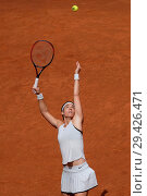Купить «Caroline Garcia against Kiki Bertens during day seven of the Mutua Madrid Open tennis tournament at the Caja Magica in Madrid, Spain. Featuring: Caroline...», фото № 29426471, снято 11 мая 2018 г. (c) age Fotostock / Фотобанк Лори