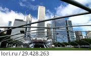 Купить «Panorama of Jay Pritzker Pavilion at day time», видеоролик № 29428263, снято 16 сентября 2018 г. (c) Антон Гвоздиков / Фотобанк Лори
