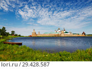 Spaso-Preobrazhensky the Solovetsky Stavropegial monastery on Bolshoy Solovetsky island in the White sea. Arkhangelsk region, Russia (2018 год). Стоковое фото, фотограф Наталья Волкова / Фотобанк Лори