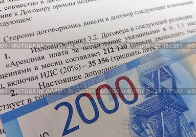Страница договора с условиями НДС 20 процентов и российские деньги