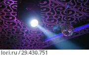 Купить «Bright stage lights flashing. Projector and disco-ball», видеоролик № 29430751, снято 10 декабря 2018 г. (c) Константин Шишкин / Фотобанк Лори