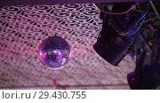 Купить «Disco-ball rejecting the light», видеоролик № 29430755, снято 10 декабря 2018 г. (c) Константин Шишкин / Фотобанк Лори