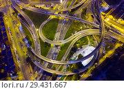 Купить «Highway road at night», фото № 29431667, снято 10 сентября 2018 г. (c) Яков Филимонов / Фотобанк Лори