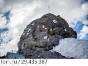 Купить «Stone with memorial signs on the slope», фото № 29435387, снято 5 июля 2015 г. (c) katalinks / Фотобанк Лори