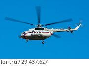 Купить «Вертолет Ми-8АМТ (бортовой RF-19006) ВВС РФ в полете», эксклюзивное фото № 29437627, снято 11 октября 2018 г. (c) Alexei Tavix / Фотобанк Лори