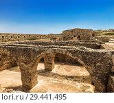 Купить «Ruins of the Venetian castle Fortezza in Rethymno, Crete, Greece», фото № 29441495, снято 3 июня 2017 г. (c) Наталья Волкова / Фотобанк Лори