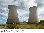 Купить «Cooling towers of Nuclear Power Plant», фото № 29442199, снято 11 октября 2018 г. (c) Яков Филимонов / Фотобанк Лори