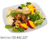 Купить «Salad with roasted chicken hearts», фото № 29442227, снято 13 декабря 2018 г. (c) Яков Филимонов / Фотобанк Лори