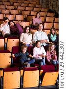 Купить «Couple watching movie», фото № 29442307, снято 3 декабря 2016 г. (c) Яков Филимонов / Фотобанк Лори