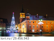 Купить «Warsaw, Castle square in the Christmas holidays», фото № 29456943, снято 29 декабря 2014 г. (c) Наталья Волкова / Фотобанк Лори