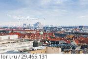 Купить «Skyline of Copenhagen city», фото № 29465131, снято 10 декабря 2017 г. (c) EugeneSergeev / Фотобанк Лори