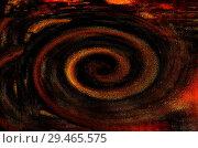 Графический абстрактный ресурс,состоящий из спирали в темных тонах. Стоковая иллюстрация, иллюстратор Игорь Кутателадзе / Фотобанк Лори