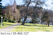 Winter in  park - Marianske Lazne (Marienbad) - great famous Bohemian spa town in the west part of the Czech Republic (region Karlovy Vary) (2018 год). Стоковое фото, фотограф Николай Коржов / Фотобанк Лори