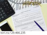 Купить «Отчет по форме СЗВ-М: Сведения о застрахованных лицах», фото № 29466235, снято 11 ноября 2018 г. (c) Наталья Гармашева / Фотобанк Лори