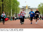 Купить «Over 100 runners complete a 3.7 mile run from Shadwell DLR station, where former MasterChef contestant Matt Campbell collapsed and died during the London...», фото № 29472459, снято 29 апреля 2018 г. (c) age Fotostock / Фотобанк Лори