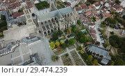 Купить «Famous gothic cathedral in Limoges city in France, Europe», видеоролик № 29474239, снято 26 октября 2018 г. (c) Яков Филимонов / Фотобанк Лори