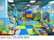 Купить «Sochi, Russia - June 2. 2018. childrens play areain Sun City mall», фото № 29478003, снято 2 июня 2018 г. (c) Володина Ольга / Фотобанк Лори
