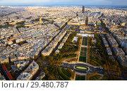 Купить «Paris with Champ de Mars and Hotel des Invalides from Eiffel Tower», фото № 29480787, снято 10 октября 2018 г. (c) Яков Филимонов / Фотобанк Лори