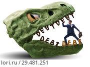 Купить «Businessman in the jaws of debt and loan», фото № 29481251, снято 15 декабря 2018 г. (c) Elnur / Фотобанк Лори