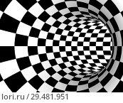 Купить «striped tourus hole. 3d illustration», иллюстрация № 29481951 (c) Ильин Сергей / Фотобанк Лори