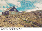 Купить «Refuge for hikers and climbers, mountain Tronador», фото № 29485731, снято 5 февраля 2017 г. (c) Яков Филимонов / Фотобанк Лори