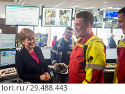 Купить «Scottish First Minister Nicola Sturgeon attends Norbord in Inverness to unveil one of the largest single inward investments made into Scotland. Featuring...», фото № 29488443, снято 23 апреля 2018 г. (c) age Fotostock / Фотобанк Лори