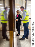 Купить «Scottish First Minister Nicola Sturgeon attends Norbord in Inverness to unveil one of the largest single inward investments made into Scotland. Featuring...», фото № 29488459, снято 23 апреля 2018 г. (c) age Fotostock / Фотобанк Лори