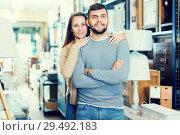 Купить «Couple in antique furnishings store», фото № 29492183, снято 9 ноября 2017 г. (c) Яков Филимонов / Фотобанк Лори