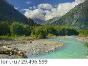 Купить «River in mountains», фото № 29496599, снято 24 июля 2018 г. (c) александр жарников / Фотобанк Лори
