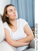 Купить «Girl is bored at lonely», фото № 29496659, снято 29 марта 2018 г. (c) Яков Филимонов / Фотобанк Лори