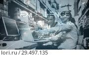 Купить «Warehouse Composition Warehouse situation combined with animated text», видеоролик № 29497135, снято 14 декабря 2018 г. (c) Wavebreak Media / Фотобанк Лори