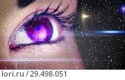 Купить «Video composition with falling snow  over close up of colorful eye», видеоролик № 29498051, снято 14 декабря 2018 г. (c) Wavebreak Media / Фотобанк Лори