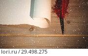 Купить «Falling snow with Christmas Santa list», видеоролик № 29498275, снято 29 мая 2020 г. (c) Wavebreak Media / Фотобанк Лори