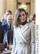 Купить «Queen Letizia of Spain attends the commemorating the 40th anniversary of the previous National Employment Institute, current Public Employment Service...», фото № 29501599, снято 29 ноября 2018 г. (c) age Fotostock / Фотобанк Лори