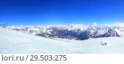 Горнолыжный склон. Стоковое фото, фотограф Дмитрий Воробьев / Фотобанк Лори