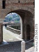 Porta San Giacomo, Upper town of Bergamo, Italy (2014 год). Стоковое фото, фотограф Виталий Батанов / Фотобанк Лори
