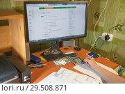 Оплата жкх через Сбербанк онлайн (2018 год). Редакционное фото, фотограф Владимир Судник / Фотобанк Лори