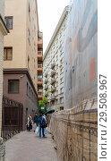 Купить «Ордынский тупик. Москва», эксклюзивное фото № 29508967, снято 12 сентября 2018 г. (c) Александр Щепин / Фотобанк Лори