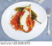 Купить «Eggplant with vegetable stew in sour cream», фото № 29509875, снято 16 февраля 2019 г. (c) Яков Филимонов / Фотобанк Лори